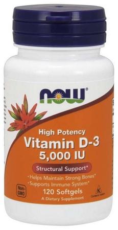 Now Foods Vitamin D-3 5000 IU - 120 Softgels