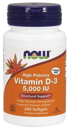 Now Foods Vitamin D-3 5000 IU - 240 Softgels