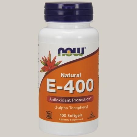 Now Foods Vitamin E 100% Natural 400 iu (d-alpha) - 100 Softgels