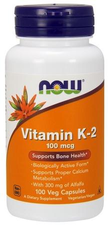 Now Foods Vitamin K-2 100 mcg - 100 Cap
