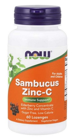 Now Foods Zinc-C  Sambucas Zinc-C - 60 Lozenges