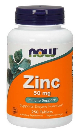 Now Foods Zinc Gluconate 50 Mg - 250 Tab