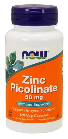 Now Foods Zinc Picolinate 50 Mg - 120 Cap