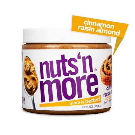 Nuts n More Cinnamon Raisin Almond - 16 Oz