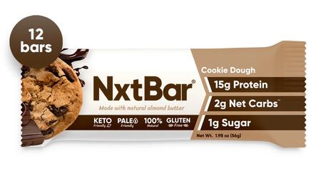 NxtBar Protein Bars Cookie Dough - 12 Bars