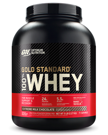 Optimum Nutrition 100% Whey Gold Standard Extreme Milk Chocolate - 5 Lb