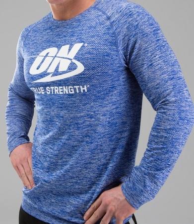 Optimum Nutrition True Strength Shirt Blue Long Sleeve - Medium