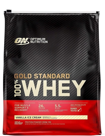 -Optimum Nutrition 100% Whey Gold Standard Vanilla Ice Cream - 114 Servings (7.79 Lb) ($63.99 w/code DPS10) 4 or more $59.99ea