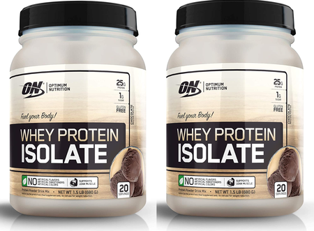 -Optimum Nutrition Whey Protein Isolate Chocolate TWINPACK - 3 Lb (40 Servings) 2 x 1.5 Lb Btls ($29.99 w/coupon code DPS10)