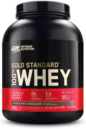 Optimum Nutrition 100% Whey Gold Standard Chocolate (Dbl Rich Choc) - 5 Lb