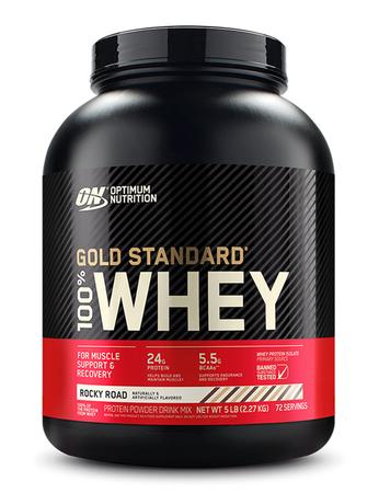 Optimum Nutrition 100% Whey Gold Standard Rocky Road - 5 Lb