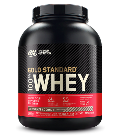 Optimum Nutrition 100% Whey Gold Standard Chocolate Coconut - 5 Lb