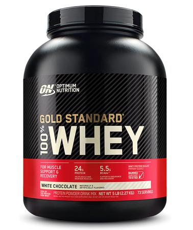 Optimum Nutrition 100% Whey Gold Standard White Chocolate - 5 Lb