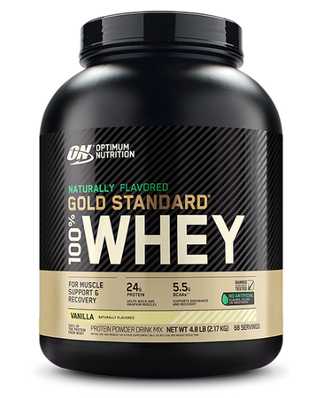 Optimum Nutrition 100% Whey Gold Standard NATURAL Vanilla - 4.8 Lb