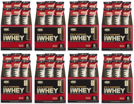 -Optimum Nutrition 100% Whey Gold Standard Protein Extreme Chocolate - 48 Packs (8 x 6pk boxes)