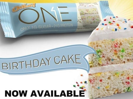 ONE Bar Birthday Cake - 12 Bars