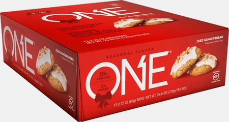 ONE Bar Iced Gingerbread - 12 Bars  *Best by 9/20