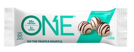 ONE Bar White Chocolate Truffle - 12 Bars *Best by date 12/20