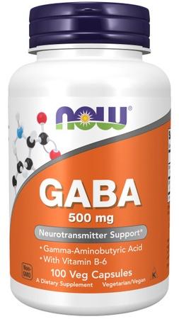 Now Foods Gaba 500 Mg + B6 - 100 Cap