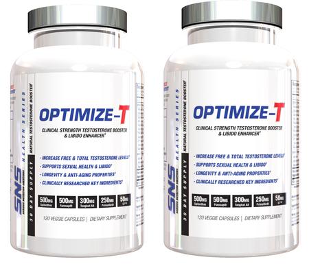 SNS Serious Nutrition Solutions Optimize-T   TWINPACK - 2 x 120 Cap Btls