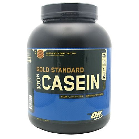Optimum Nutrition 100% Casein Chocolate Peanut Butter - 4 Lb