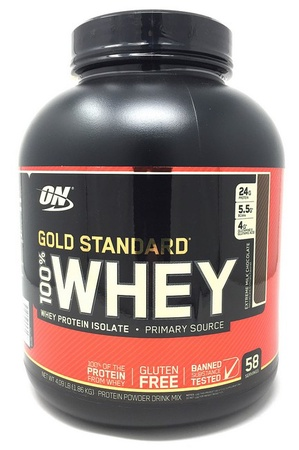 -Optimum Nutrition 100% Whey Gold Standard Extreme Chocolate - 4.09 Lb (58 Servings)