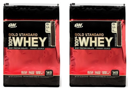 -Optimum Nutrition 100% Whey Gold Standard Vanilla Ice Cream - 2 x 10 Lb Bags  ($79.99 each w/code DPS10)