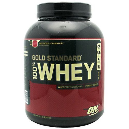 Optimum Nutrition 100% Whey Gold Standard Strawberry - 5 Lb