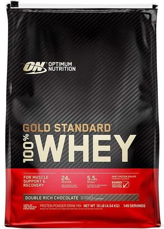 Optimum Nutrition 100% Whey Gold Standard Chocolate (Dbl Rich Choc) - 10 Lb Bag
