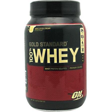 Optimum Nutrition 100% Whey Gold Standard Vanilla Ice Cream - 2 Lb