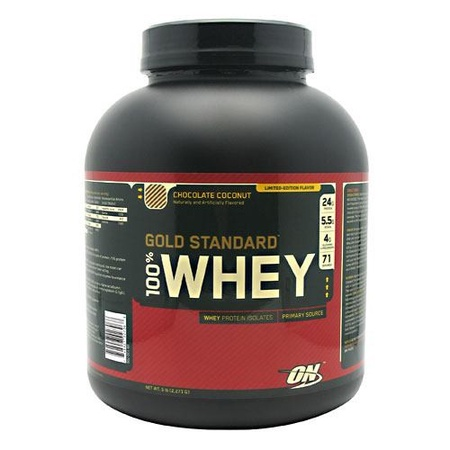 Optimum Nutrition 100% Whey Gold Standard Chocolate Coconut - 5 Lb