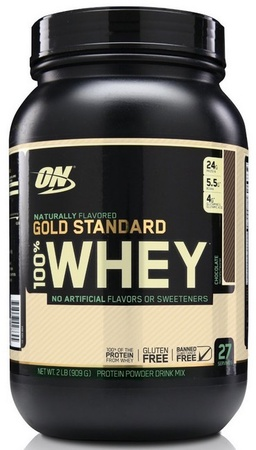 Optimum Nutrition 100% Whey Gold Standard NATURAL Chocolate - 1.9 Lb