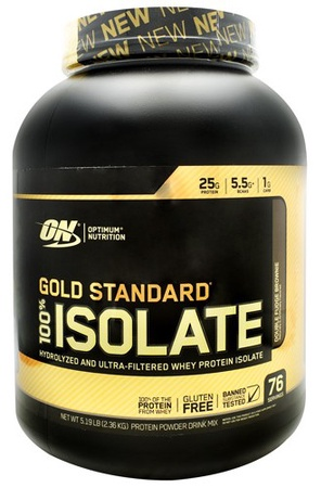 -Optimum Nutrition Gold Standard 100% Isolate Double Fudge Brownie - 5 Lb (76 Servings) $47.99 w/DPS10 code