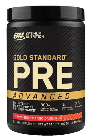 Optimum Nutrition Gold Standard PRE Advanced  Strawberry Mango Daiquiri - 20 Servings