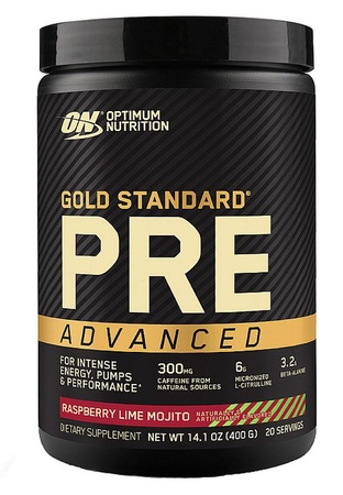 Optimum Nutrition Gold Standard PRE Advanced  Raspberry Lime Mojito - 20 Servings
