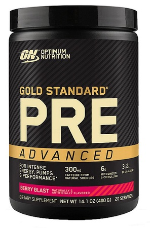 Optimum Nutrition Gold Standard PRE Advanced  Berry Blast - 20 Servings