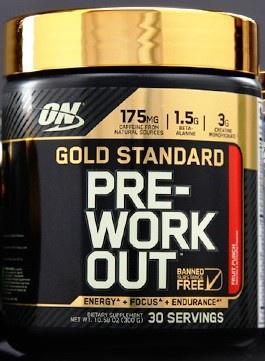 Optimum Nutrition Gold Standard Pre-Workout Fruit Punch - 30 Servings