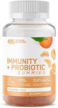 Optimum Nutrition Immunity + Probiotic Gummies  Tangerine - 60 Gummies *$9.99 w/DPS10 coupon code