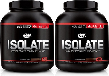 -Optimum Nutrition Isolate Protein Chocolate TWINPACK - 6 Lbs (2 x 3 Lb) (80 Servings $49.99 w/code DPS10)