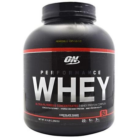 Optimum Nutrition Performance Whey Chocolate Shake - 4.3 Lb