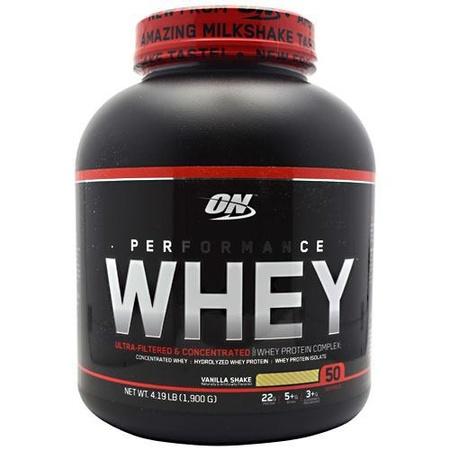 Optimum Nutrition Performance Whey Vanilla Shake - 4.19 Lb