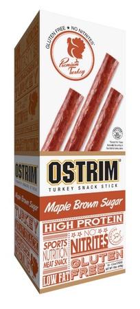 Ostrim Turkey Snack Stick Maple Brown Sugar - 10 Sticks