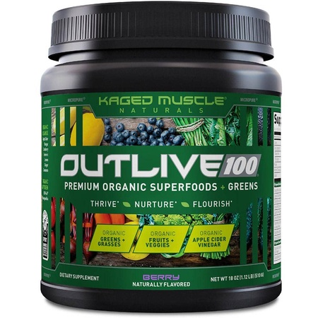 Kaged Muscle Outlive 100  Berry - 30 Servings