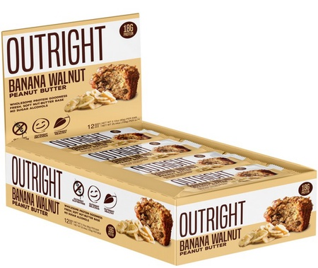 Outright Bar Banana Walnut Peanut Butter - 12 Bars  ($24.99 w/coupon DPS10)