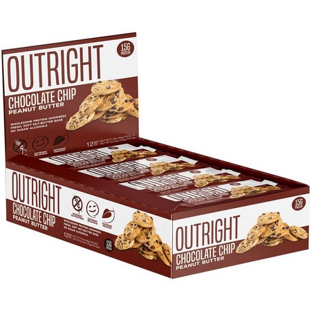 Outright Bar Chocolate Chip Peanut Butter  - 12 Bars  ($24.99 w/coupon DPS10)