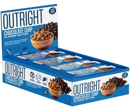 Outright Bar Chocolate Chip Almond Butter - 12 Bars  ($24.99 w/coupon DPS10)