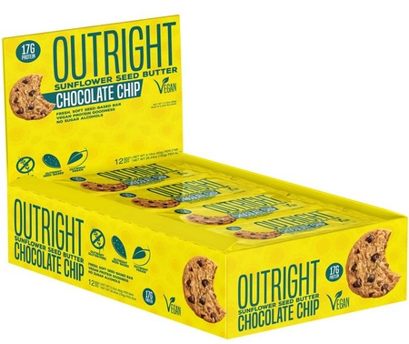 Outright Bar Chocolate Chip Sunflower Seed Butter - 12 Bars  ($27.99 w/coupon DPS10)