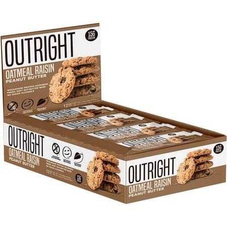 Outright Bar Peanut Butter Oatmeal Raisin - 12 Bars  *SALE *Best by 4/21