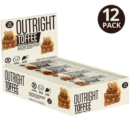 Outright Bar Toffee Peanut Butter - 12 Bars  ($24.99 w/coupon DPS10)