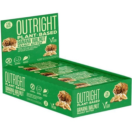 Outright Bar Vegan Friendly Protein Bar Banana Walnut Peanut - 12 Bars